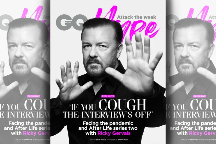 Ricky Gervais. Photo: Hamish Brown for GQ Hype
