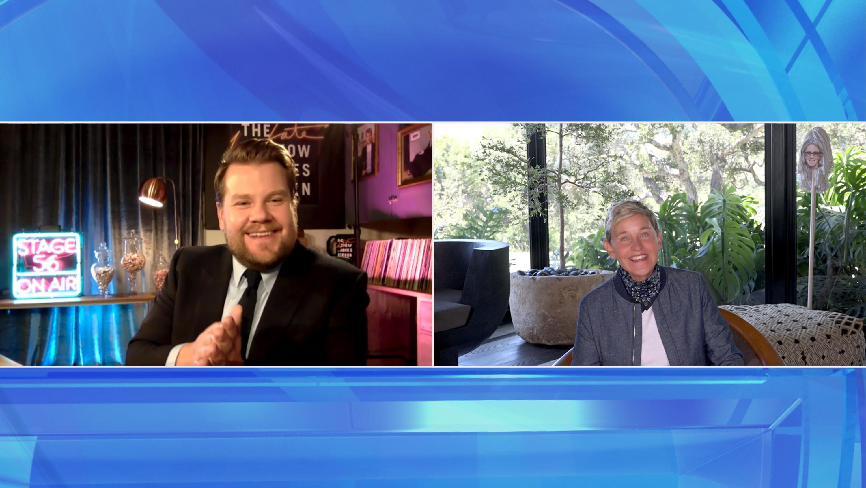 James Corden Tells Ellen DeGeneres 'It'll Be Awhile' Before He Can Hit The Road For More 'Carpool Karaoke'