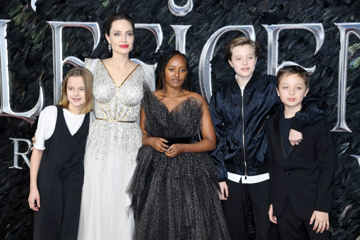 Angelina Jolie with her children. Photo: Doug Peters/EMPICS/CP Images