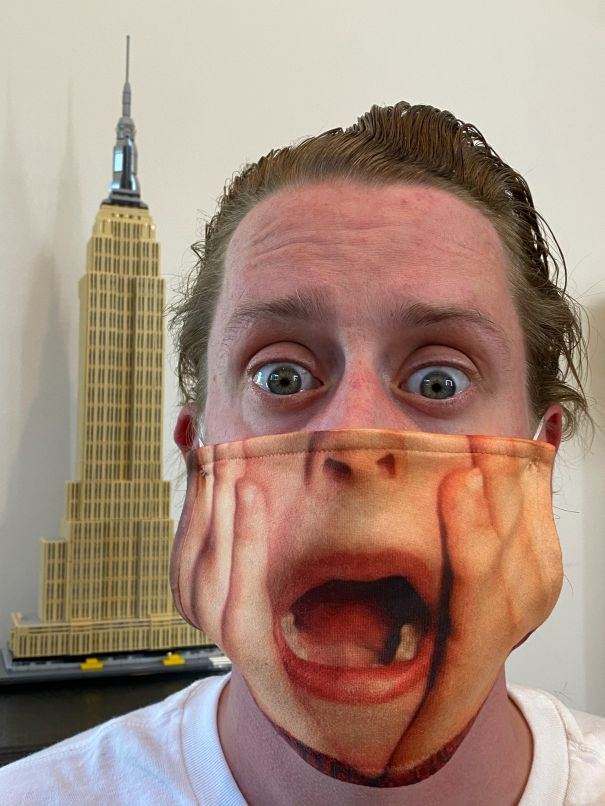 Macaulay Culkin Preaches Mask Safety