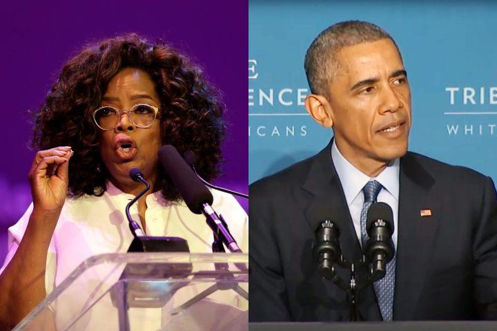 Oprah Winfrey, Barack Obama. Photo: CP Images