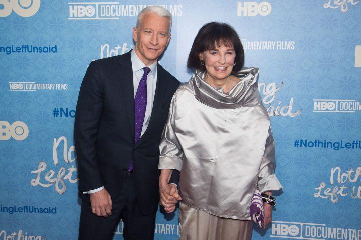 Anderson Cooper, Gloria Vanderbilt. Photo by Charles Sykes/Invision/AP)