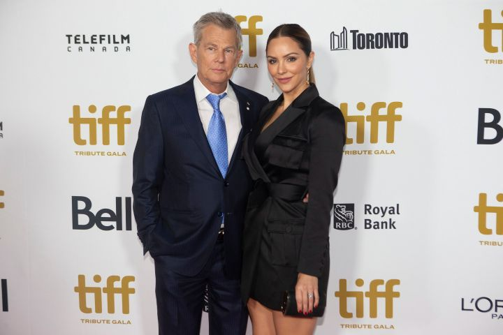 Katharine McPhee and David Foster. Photo: CPImages