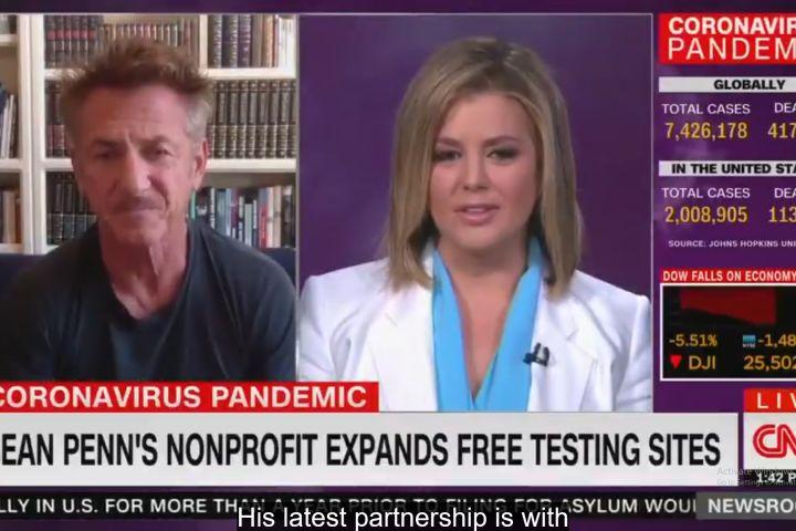 Sean Penn. Photo: Twitter/CNN