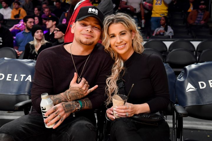 Kane Brown and Katelyn Jae. Photo by Allen Berezovsky/Getty Images