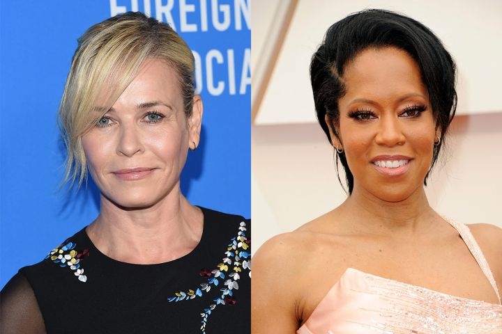 Chelsea Handler and Regina King. Photo: CPImages