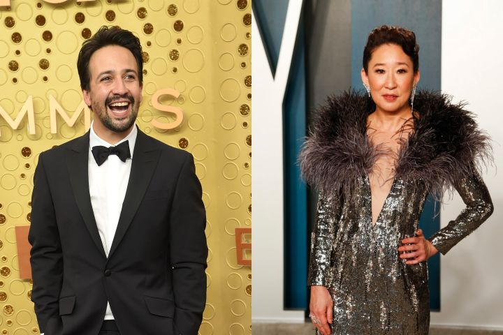 Lin-Manuel Miranda and Sandra Oh. Photos: CPImages