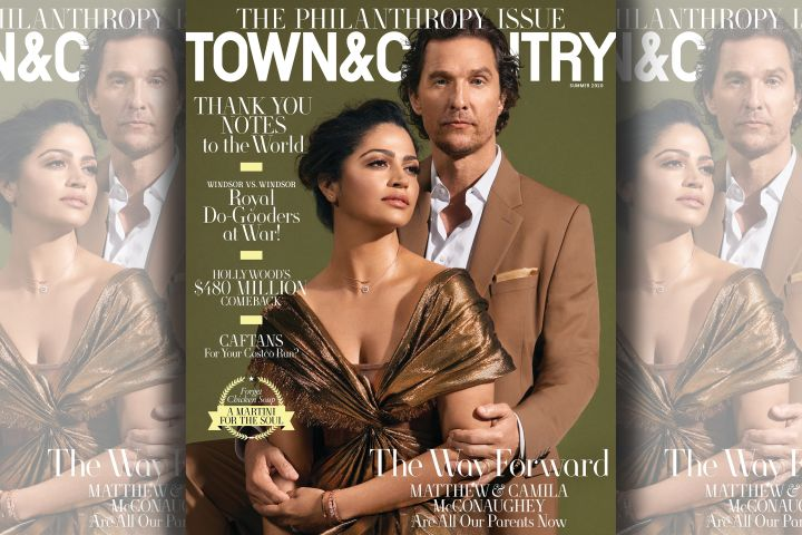 Matthew McConaughey and Camila Alves. Photo: Philip Montgomery for Town & Country