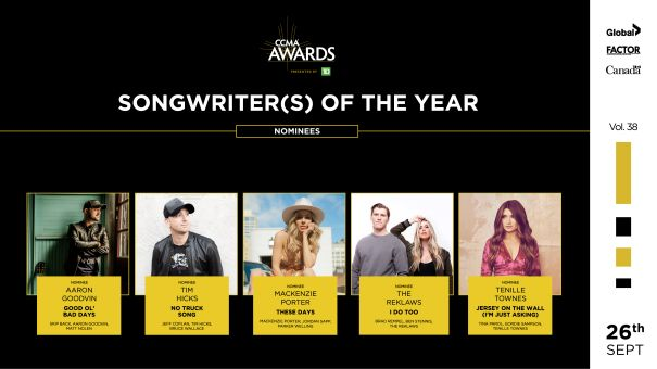Songwriter(s) Of The Year