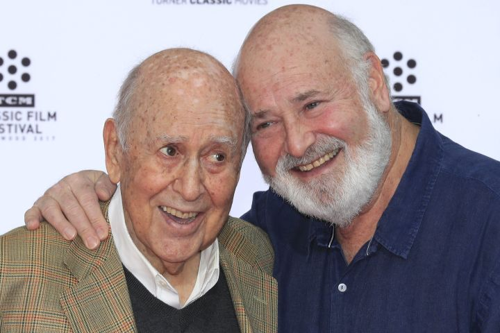Carl and Rob Reiner. Photo: EPA/MIKE NELSON/CP Images
