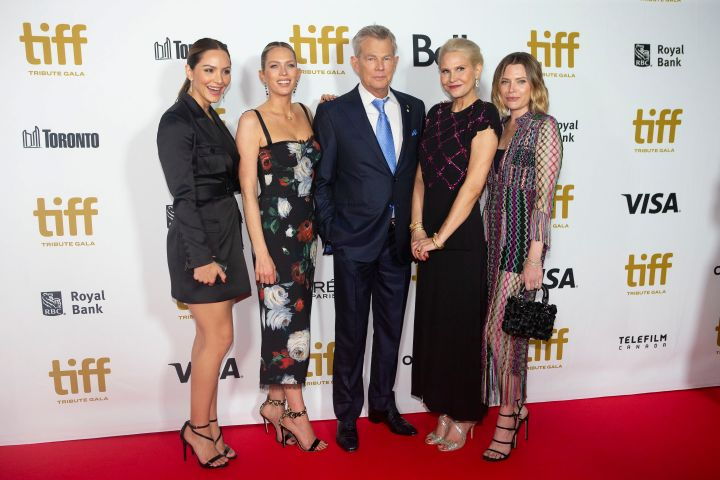 David Foster, Katharine McPhee, Erin Foster, Amy Foster and Sara Foster. Photo: CPImages