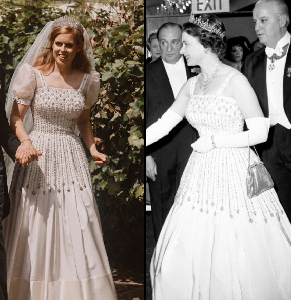 Princess Beatrice Walks Down The Aisle In The Queen S Vintage