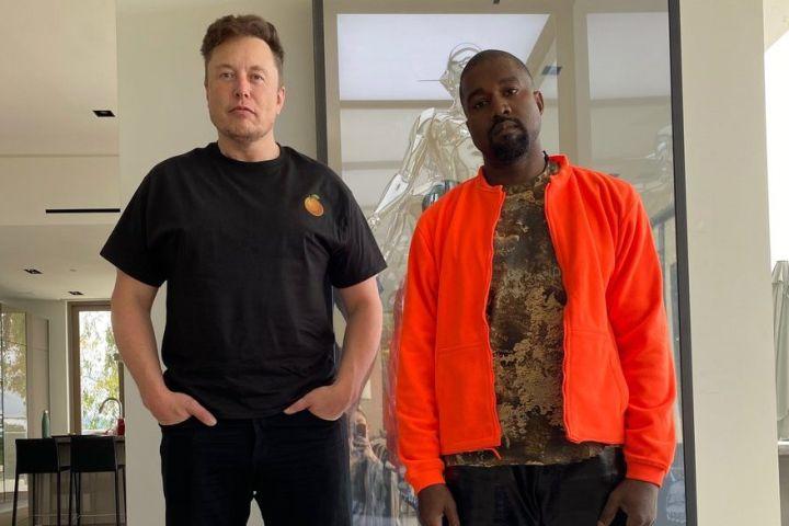 Elon Musk, Kanye West. Photo: Twitter/Kanye West