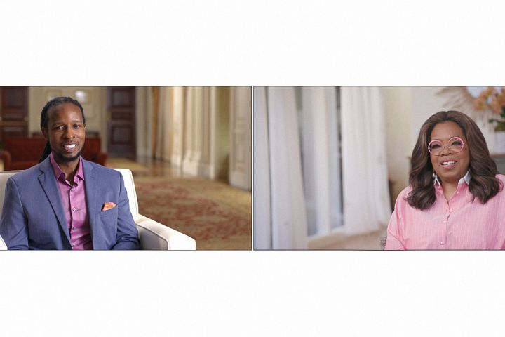Dr. Ibram X. Kendi, Oprah Winfrey. Photo: Apple TV+