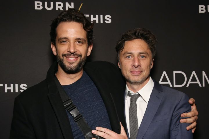 Nick Cordero and Zach Braff. Photo: CP Images