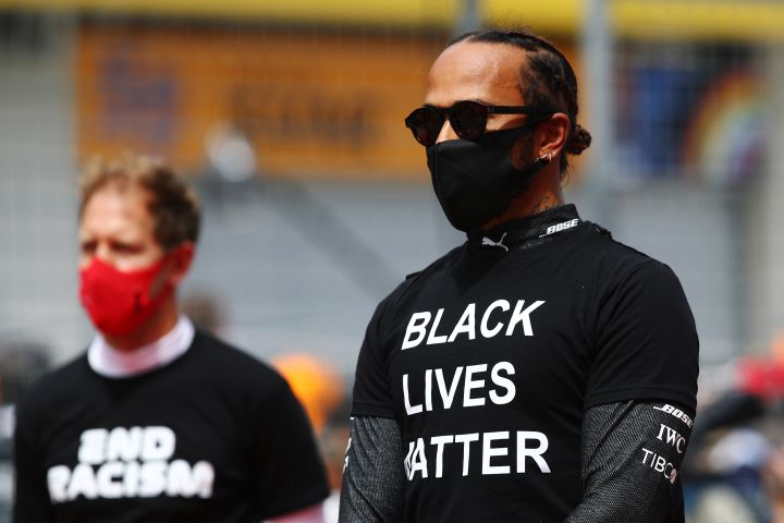Lewis Hamilton And Other Formula 1 Drivers Take A Knee To Support BLM Ahead Of Styrian Grand Prix