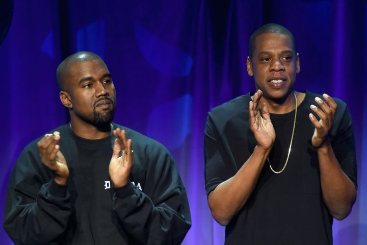 Kanye West and Jay-Z. Photo: Jamie McCarthy/Getty Images for Roc Nation