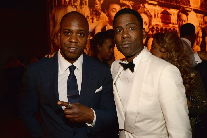 Dave Chappelle and Chris Rock. Photo: Kevin Mazur/VF16/WireImage/Getty Images