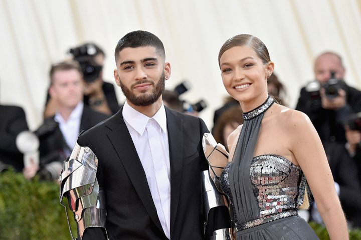 "Zayn Malik and Gigi Hadid attend the ""Manus x Machina: Fashion In An Age Of Technology"" Costume Institute Gala at Metropolitan Museum of Art"