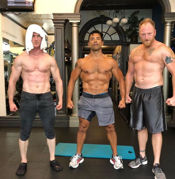 Mark Consuelos Shows Off Ripped 'Kingdom' Abs