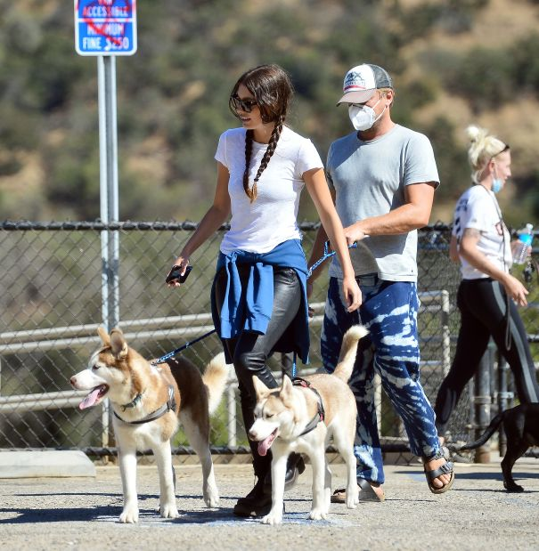 Leonardo DiCaprio And Camila Morrone Go On A Hike