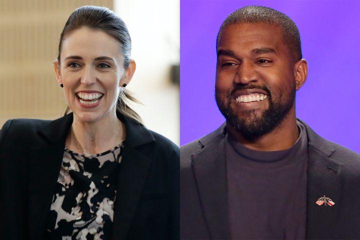 Jacinda Ardern, Kanye West. Photo: CP Images