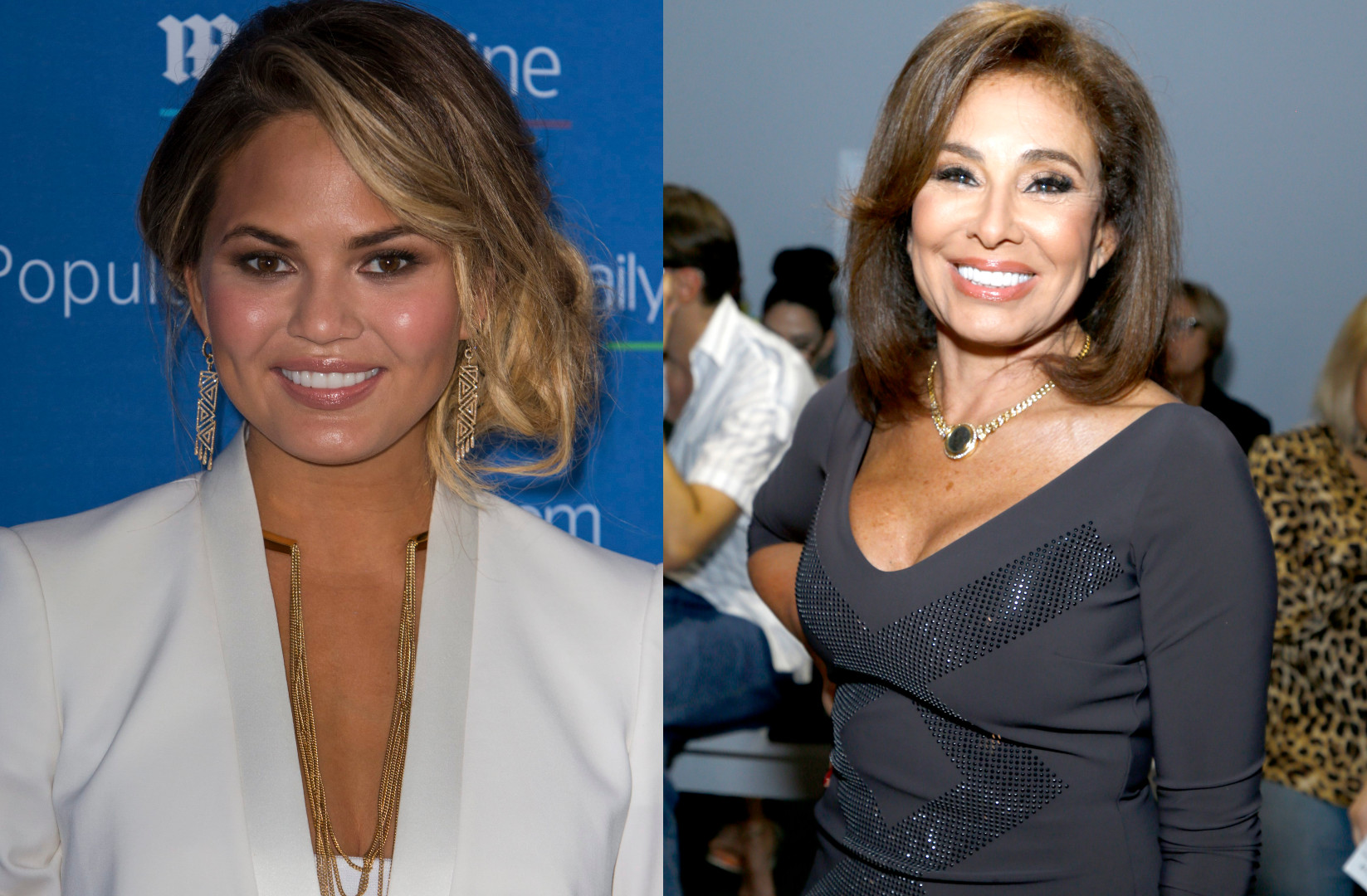 Chrissy Teigen Calls Out Jeanine Pirro After Noticing A Photo Of Her Boobs On Pirro's Phone