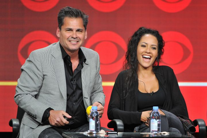 Peter Lenkov and Tristin Mays attend the CBS 2016 Summer TCA Panel at The Beverly Hilton Hotel on Aug. 10, 2016 in Beverly Hills, Calif.