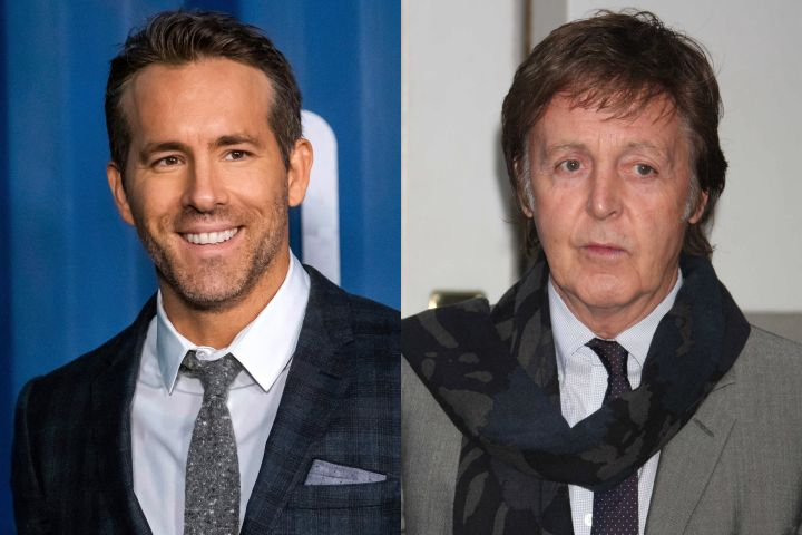 Ryan Reynolds, Paul McCartney. Photo: CP Images