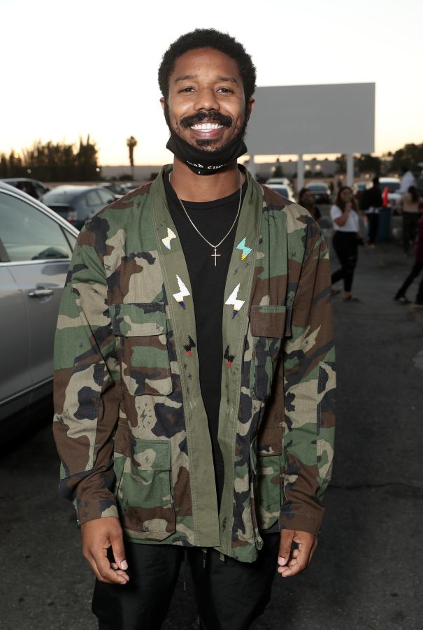 Michael B. Jordan Has A Night Out At The Drive-In