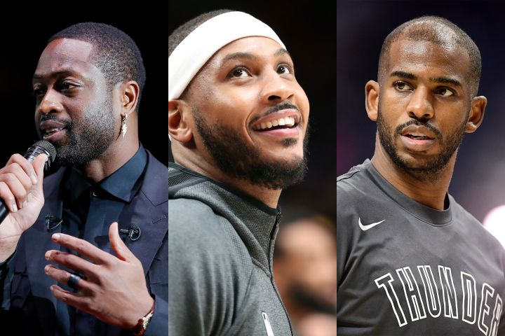Dwyane Wade, Carmelo Anthony, Chris Paul. Photo: Getty Images
