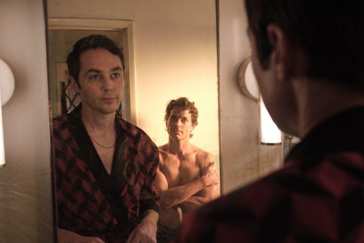 Jim Parsons as Michael and Matt Bomer as Donald. Scott Everett White/NETFLIX ©2020