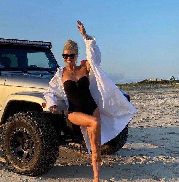 Christie Brinkley Hits The Beach