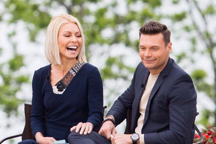 Kelly Ripa and Ryan Seacrest. Photo: THE CANADIAN PRESS/Aaron Lynett/CP Images