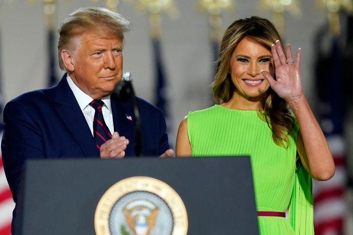 Donald Trump and Melania Trump. Photo: AP Photo/Evan Vucci/CP Images