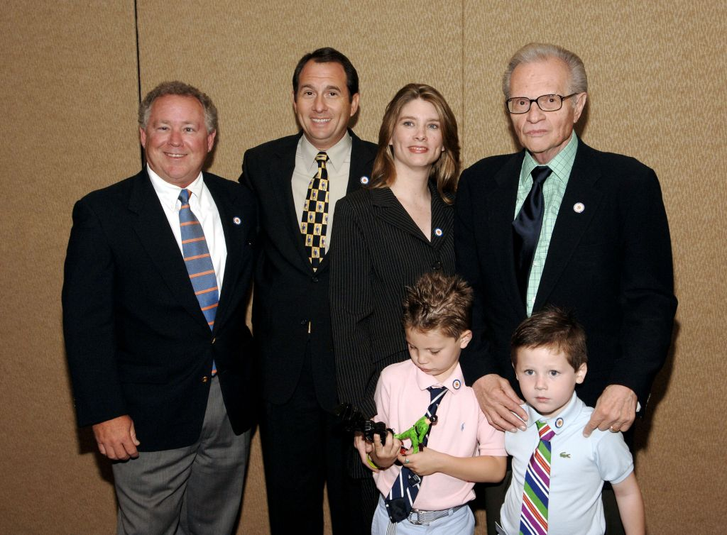 Andy King, Larry King Jr. Chaia King, Larry King, Shawn King with Chance and Cannon King.