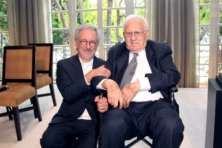 Steven Spielberg and Arnold Spielberg. Photo: FilmMagic/FilmMagic/Getty Images