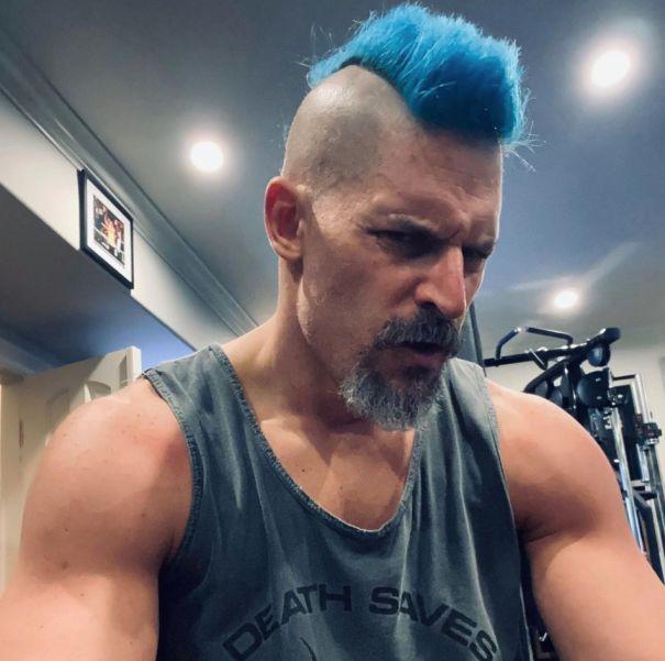 Joe Manganiello Goes Bold And Blue