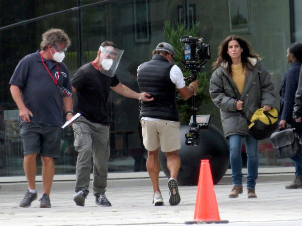 Sandra Bullock On Set In Canada