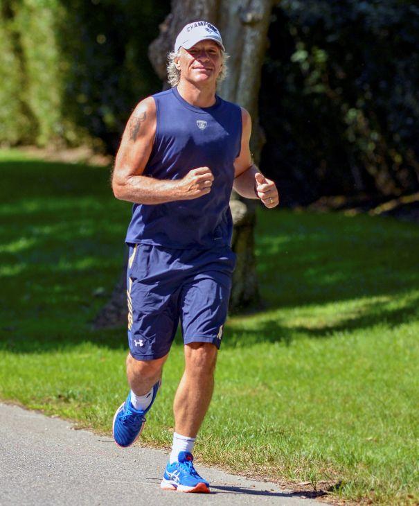 Jon Bon Jovi Works Up A Sweat In The Hamptons