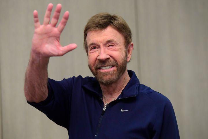 Chuck Norris. Photo: EPA/Tamas Kovacs HUNGARY OUT/CP Images
