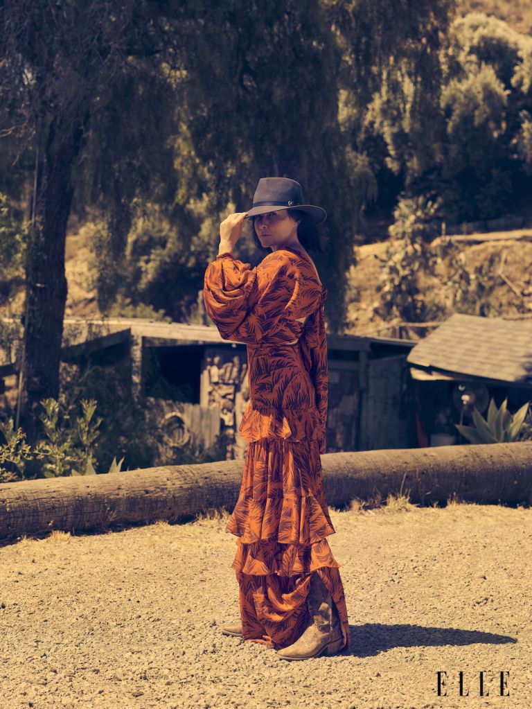Shannen Doherty. Photo: Kurt Iswarienko for Elle Magazine