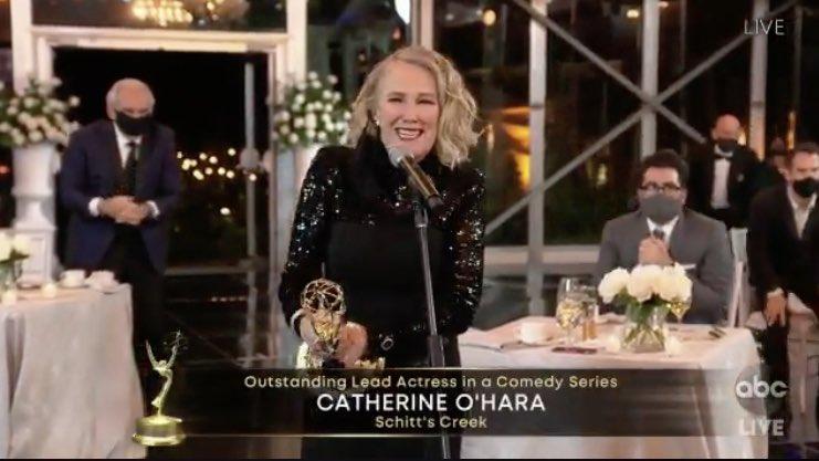 Catherine O'Hara, Eugene Levy & Daniel Levy All Win Emmys For 'Schitt's Creek'