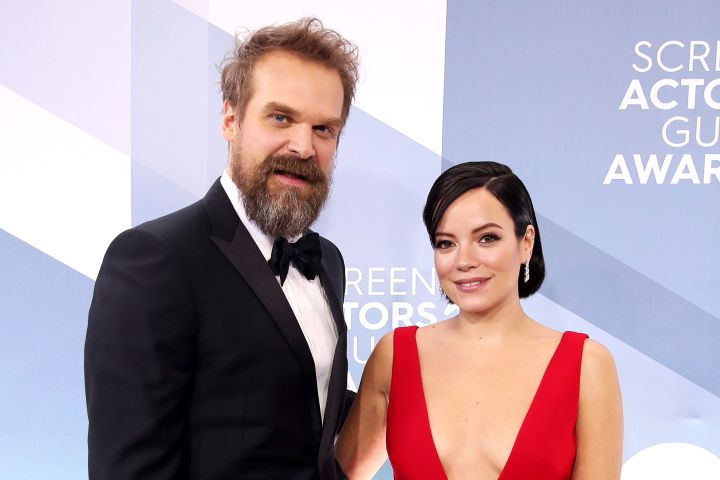 David Harbour and Lily Allen. Photo: Rich Fury/Getty Images/CP Images