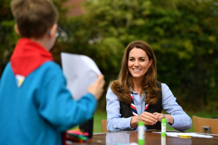 Duchess of Cambridge talks with members of the Beavers