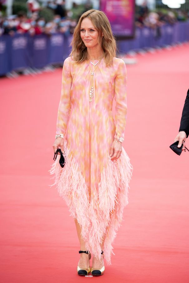 Vanessa Paradis Is Pretty In Peach