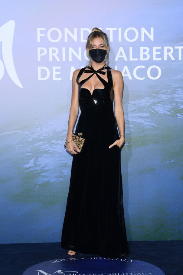Sienna Miller Masks-Up At Monte-Carlo Bash