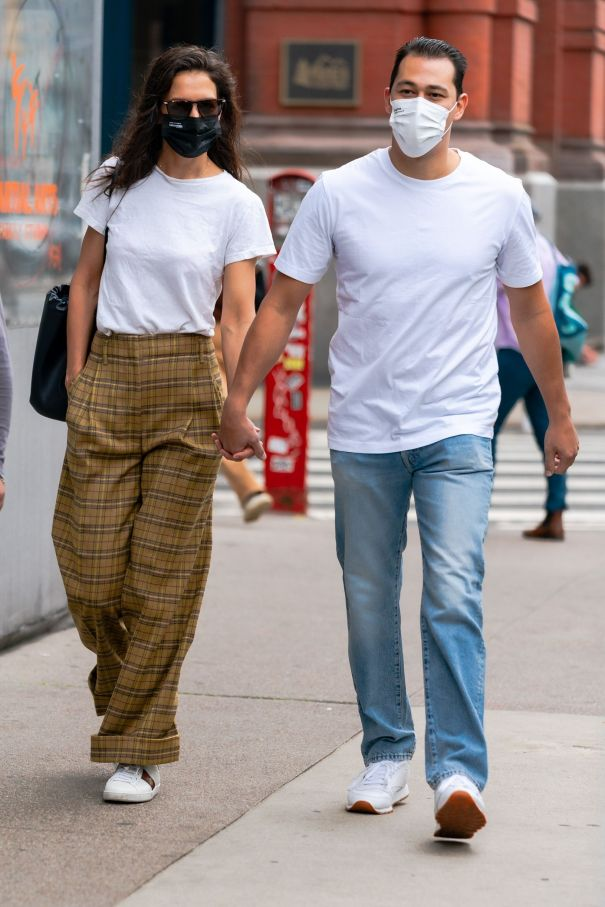 Katie Holmes Matches With Emilio Vitolo Jr.
