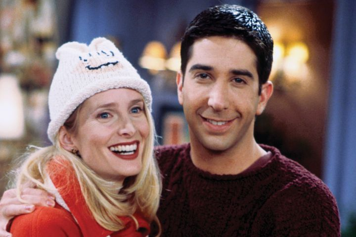 """Jane Sibbett and Dave Schwimmer in """"Friends"""". Photo: Paul Drinkwater/NBCU Photo Bank/Getty Images"""