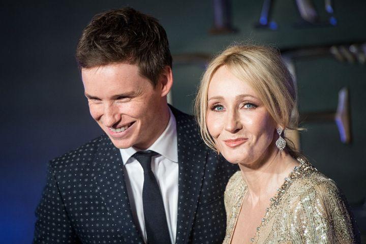 Eddie Redmayne and J.K. Rowling
